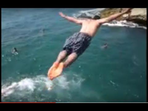 Cliff Plunge to water mediterranean sea beirut
