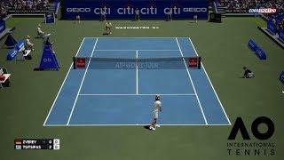 🏸 ALEXANDER ZVEREV VS STEFANOS TSITSIPAS | WASHINGTON 2018 | AO INTERNATIONAL TENNIS | GAMEPLAY PC
