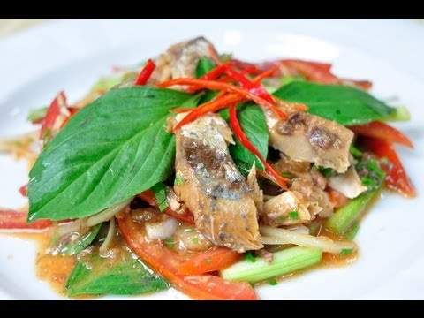 Access youtube thai food yum pla ka pong spicy canned sardine salad forumfinder Gallery