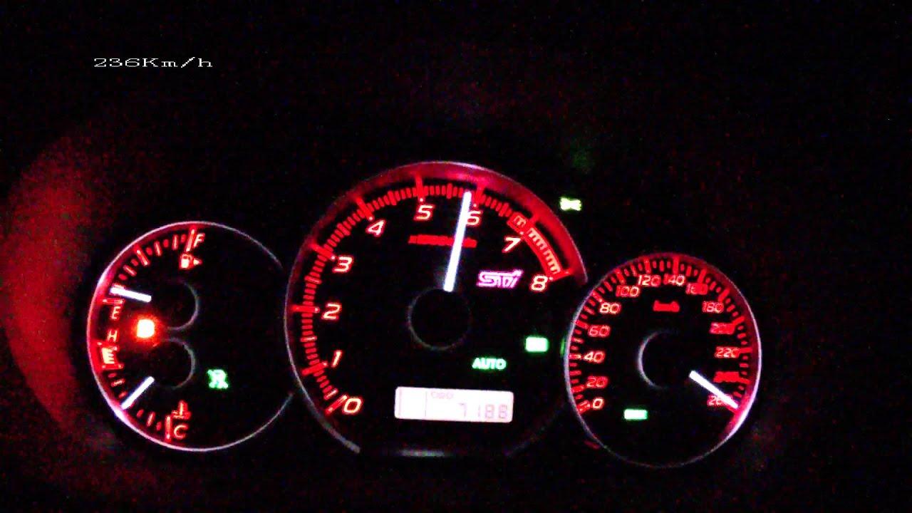 Subaru Wrx Sti 2012 Acceleration 0 240 Km H Vmax Test