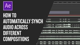 How to automatically synch audio across different compositions in After Effects