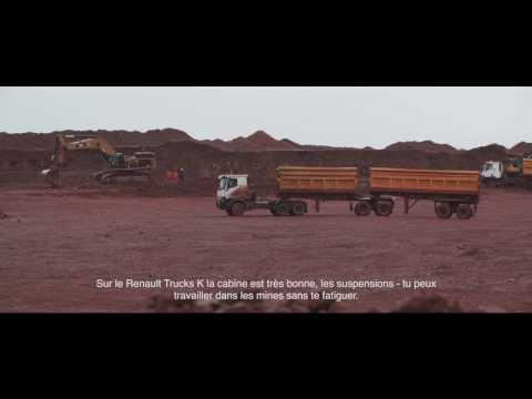 Interview chauffeur: Robustesse démontrée par Renault Trucks K en Guinée