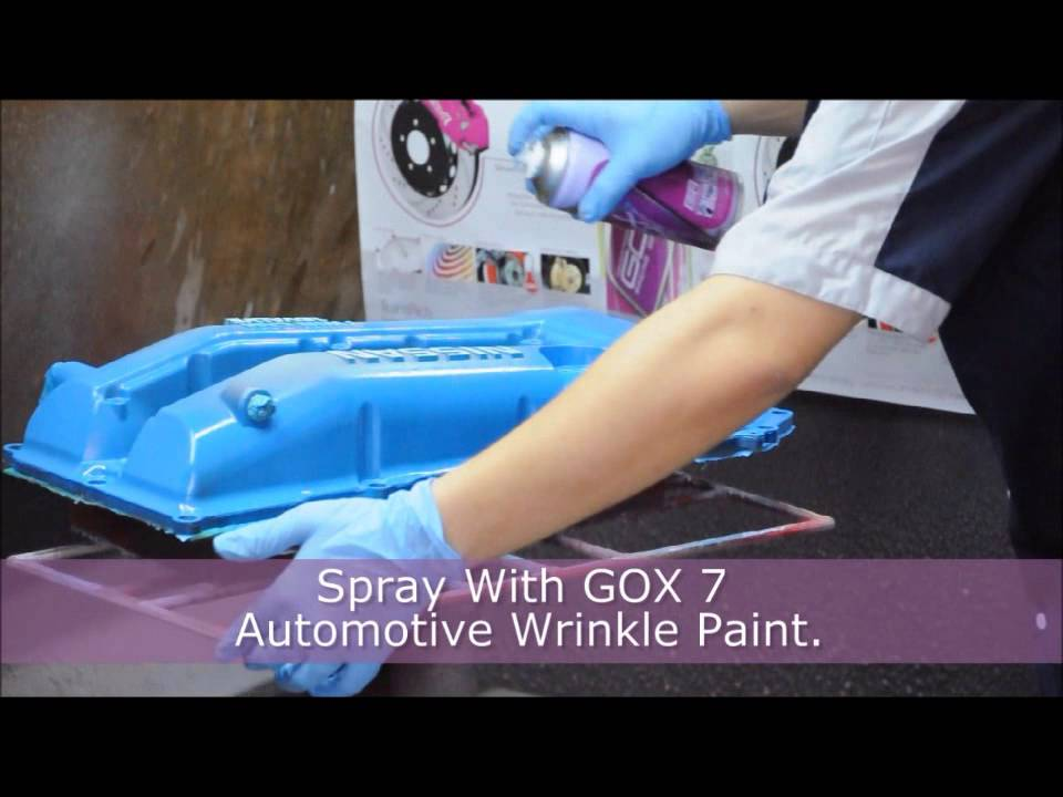 spray paint engine valve cover gox  wrinkle finish paint youtube