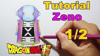 Como Desenhar Zeno 1/2 Dragon Ball Super - How to Draw Zeno