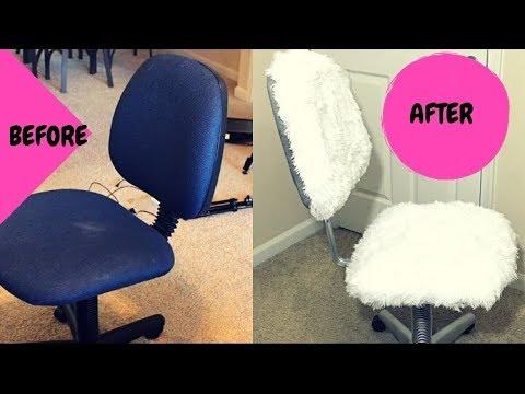 Desk Chair Diy Mission Armchair Faux Fur Office Youtube
