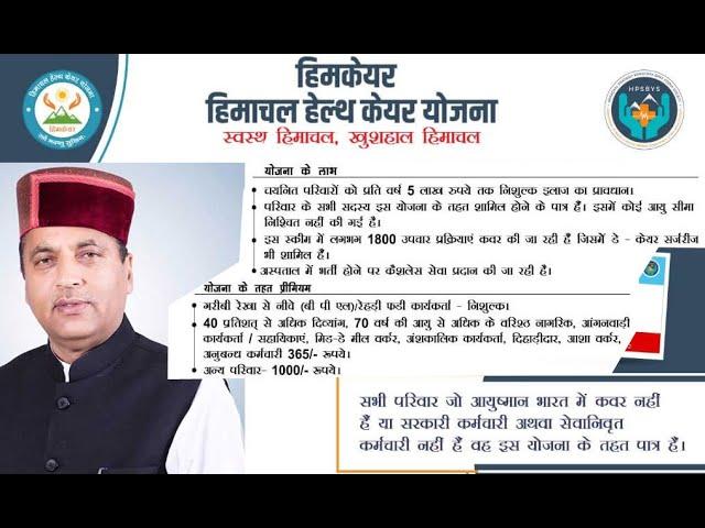 Himcare Scheme of Himachal Pradesh Government