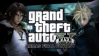 ARMAS DE FINAL FANTASY !! 7 & 8 ! GTA V MODS | GRAND THEFT AUTO 5 BERSGAMER