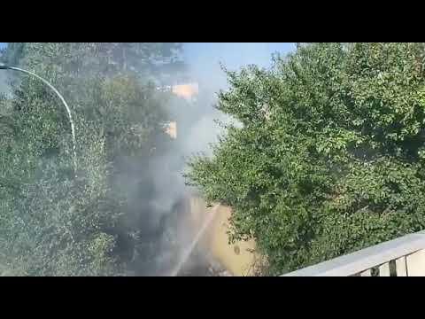 Expectación por el incendio en la zona de la N-VI