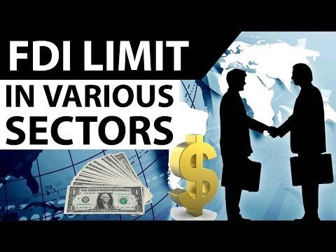 (हिंदी) FDI Limits In Various Sectors Of India 2017- Current Affairs 2017 For IBPS PO / RBI Grade B