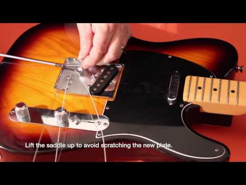 Glendale Guitars /Stock Fender American Standard Tele/ Bridge-plate Saddle Set Sound Comparison.