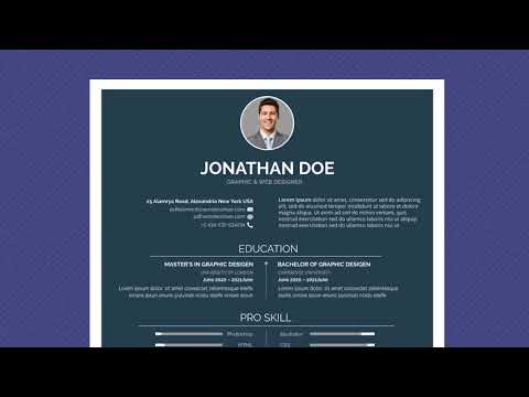 Free Professional Resume Template - Minimal Simple Dark