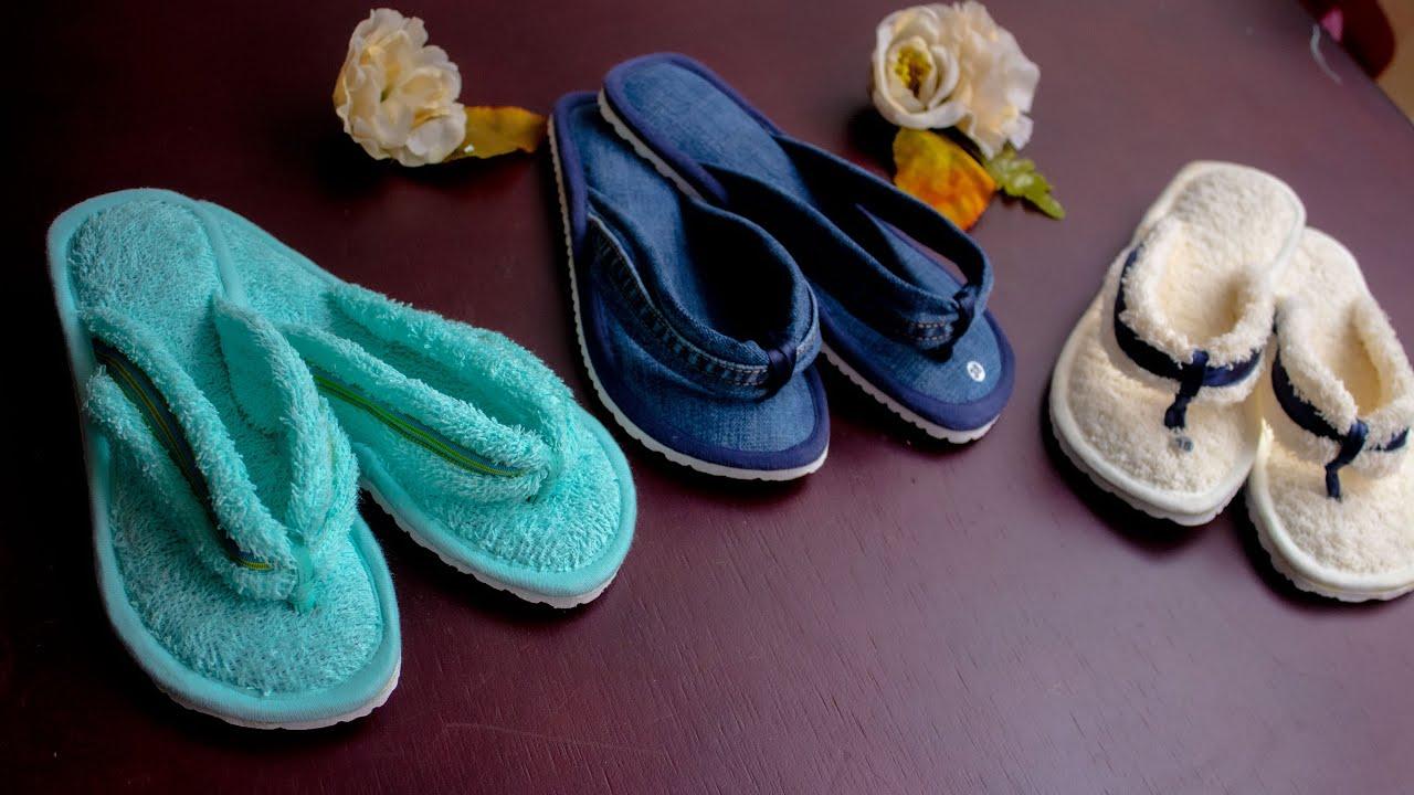 Preciosas pantuflas, como hacerlas,paso a paso con Luzkita /pantuflas tres puntadas /muy fácil!