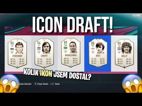 ICON DRAFT CHALLENGE! 😱 KOLIK IKON DOSTANU? | FUT DRAFT | FIFA 19 CZ/SK