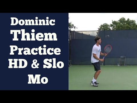 Dominic Thiem Real Time and Super Slow Motion