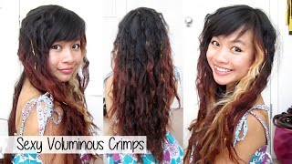 Sexy Voluminous Crimps with Curling Iron