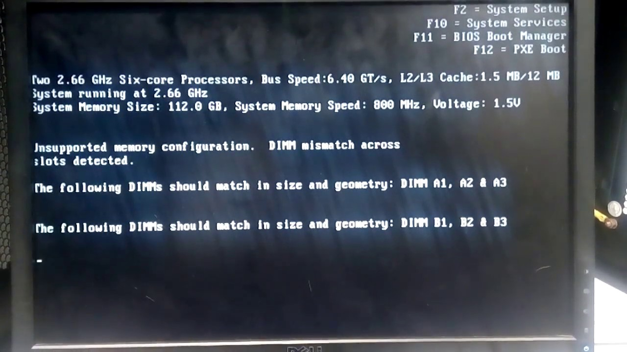 Dell Poweredge R710 Booting