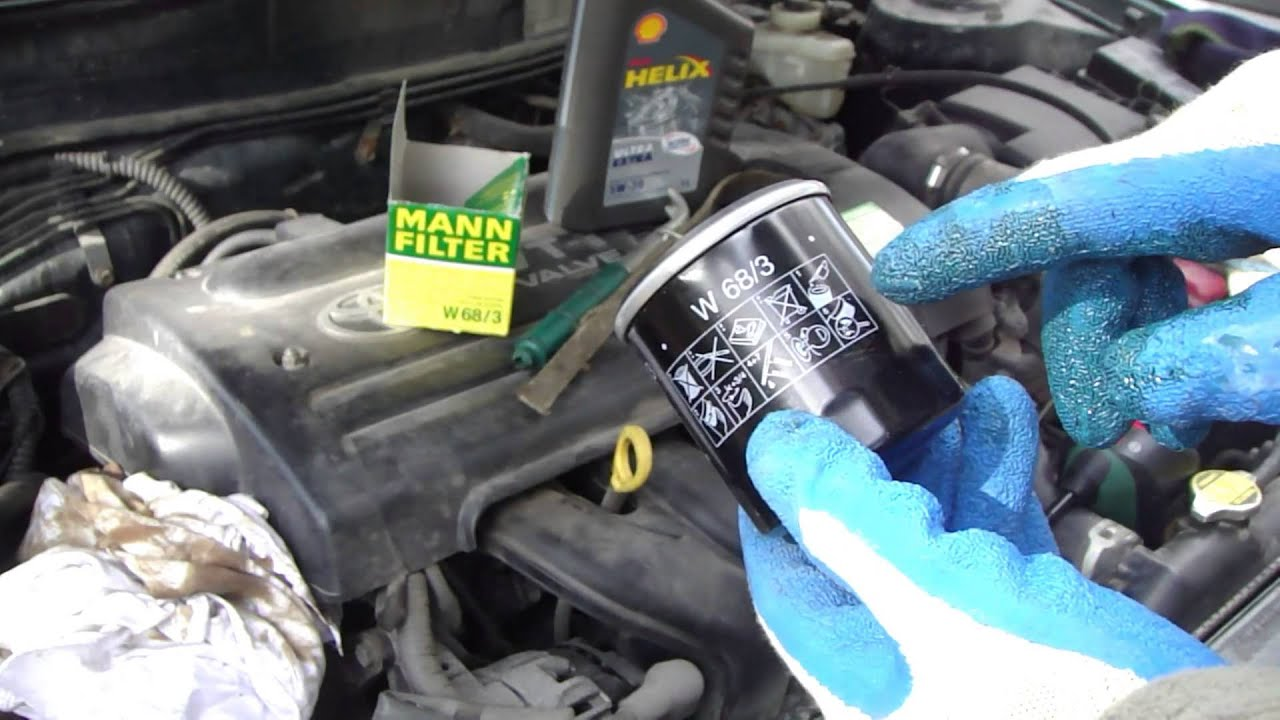 how to change oil filter vvt-i engine toyota. year models 2000