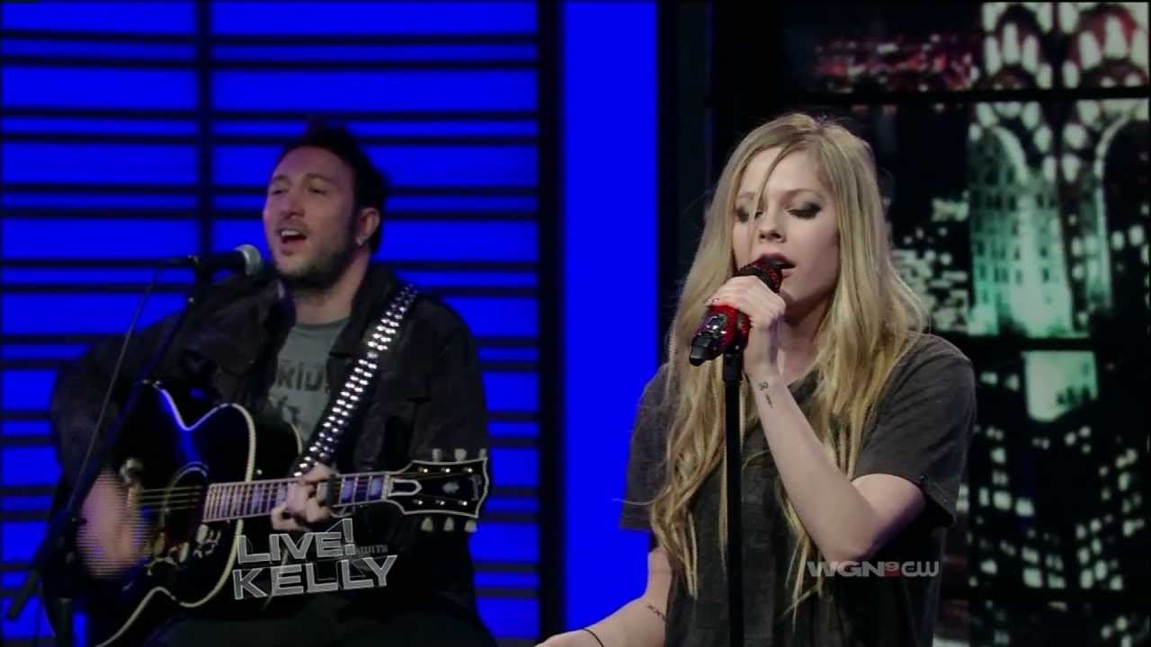 avril lavigne wish you were here live with kelly youtube