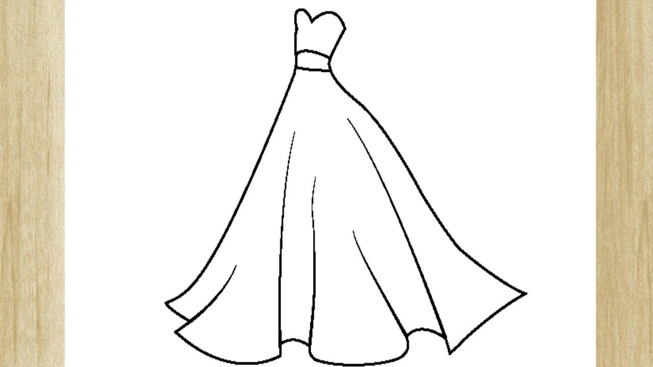 Como Desenhar Um Vestido De Princesa Facilmente Youtube