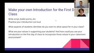 Supporting Trans Students Workshop: Activity - Make Your Class Introduction