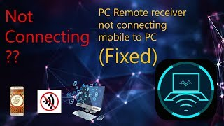 PC Remote receiver- Connection Issues (Fixed 100%)
