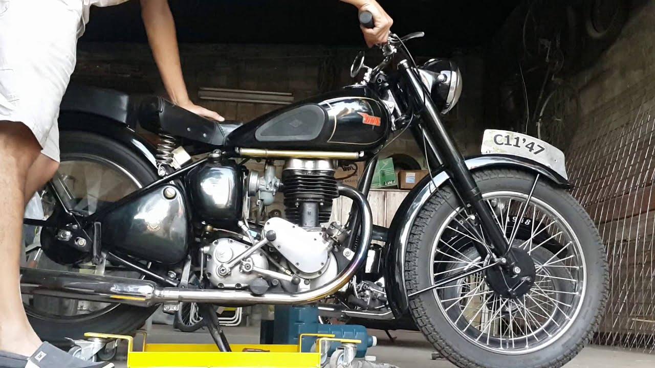 BSA 250cc C11 1947 - YouTube
