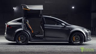 T Largo #2: Midnight Silver Metallic Model X with Lamborghini Black & Orange Interior