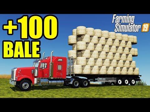 Farming Simulator 19   +100 BALE AUTO LOADER TRAILER !!!