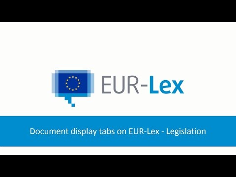 Document Display Tabs On EUR-Lex - EU Case Law