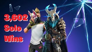 3,602 SOLO WINS - FORTNITE LIVE STREAM - MAX LEVEL BATTLEPASS