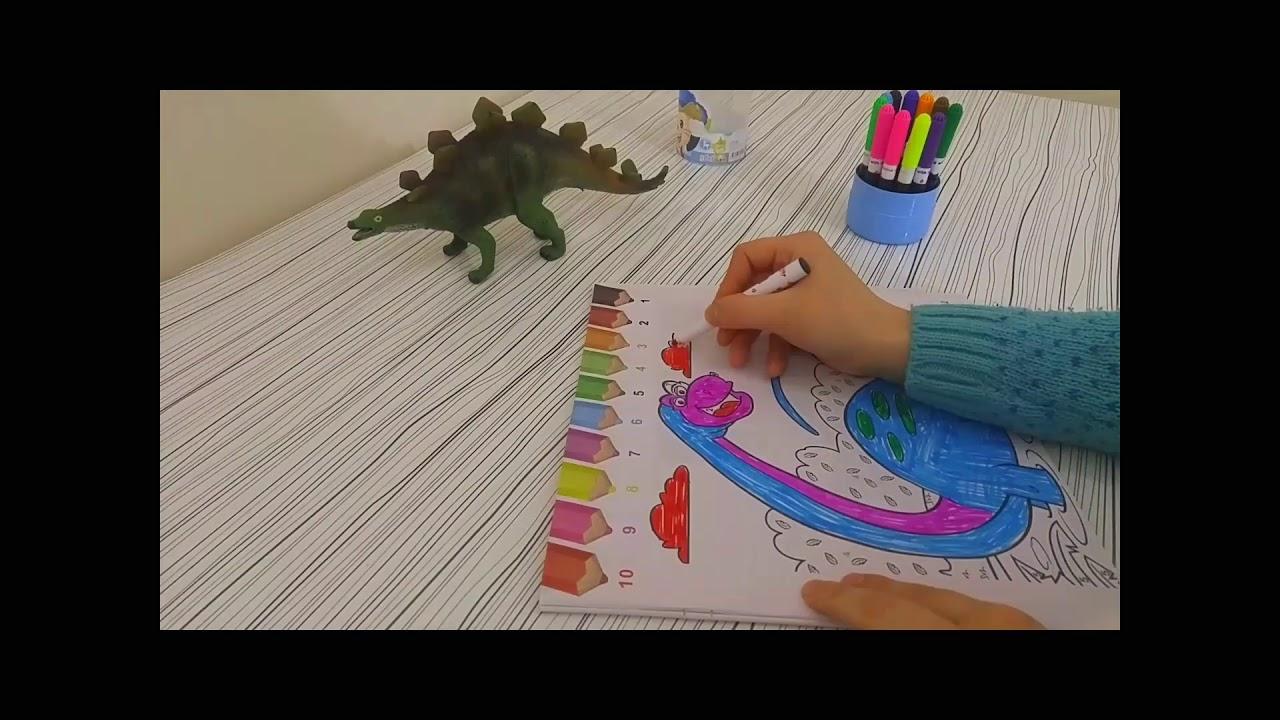 Coloring Dinosaur Kids Boyama Dinozor çocuklar Youtube