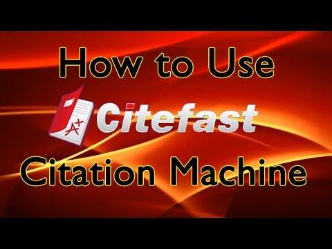 APA Citations, MLA Citations: Perfect Citations with CiteFast Tutorial