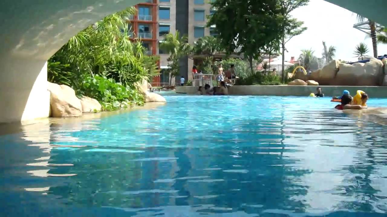 Exceptional Man Made Beach Pool At Hard Rock Hotel Singapore   YouTube