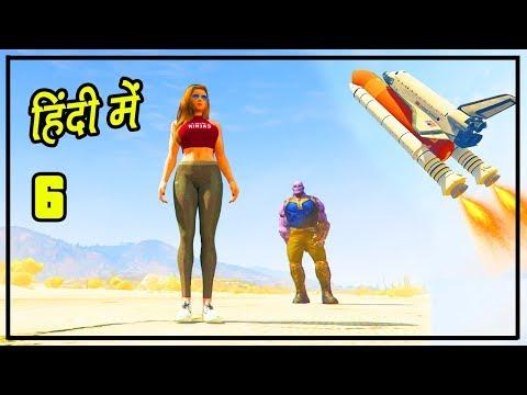 GTA 5 Alien Attack #6 - Space Travelling Ft. Thanos   Hitesh KS thumbnail