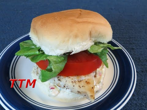 Healthy Filet-O-Fish Sandwich And Homemade Tartar Sauce Recipe~Easy Cooking
