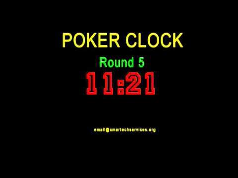 POKER COUNTDOWN TIMER CLOCK - ROUND 5