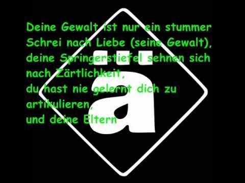 Die Ärzte ~ Schrei nach Liebe ~ Lyrics