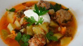 Суп из кабачков с фрикадельками - вкусный и быстрый обед/ужин(, 2016-08-01T04:17:56.000Z)
