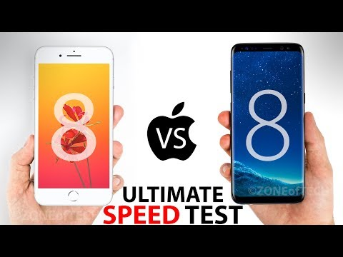 iPhone 8 Plus VS S8 Plus - The ULTIMATE SPEED Test!