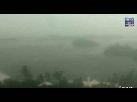 Hurricane Paulette hits Bermuda, Courtesy of EarthCam, Sept 14 2020