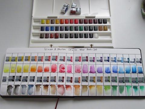 W N Cotman Studio Set 40 Farben Unboxing Color Chart Und Test
