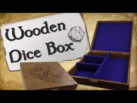How to Make Wooden Dice Boxes  for D&D