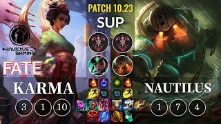 IG Fate Karma vs Nautilus Sup - KR Patch 10.23