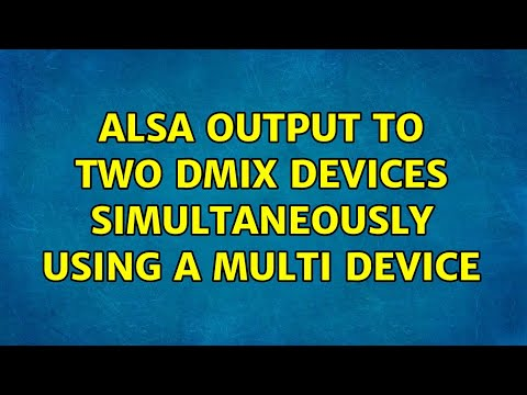 ALSA output to two dmix devices simultaneously using a multi device