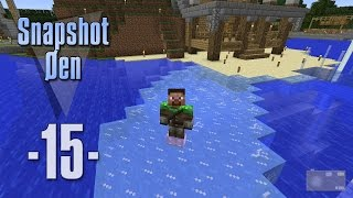 Dansk Minecraft - Snapshot Øen 15 - Frost Walker enchant og pressure plates problemer (HD)