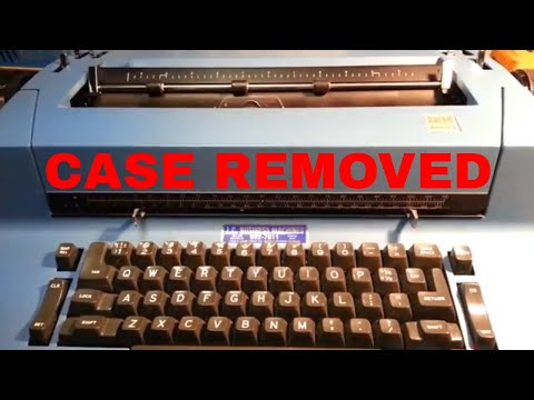 IBM Selectric Typewriter Case Removal Explained Latches Shock Mounts
