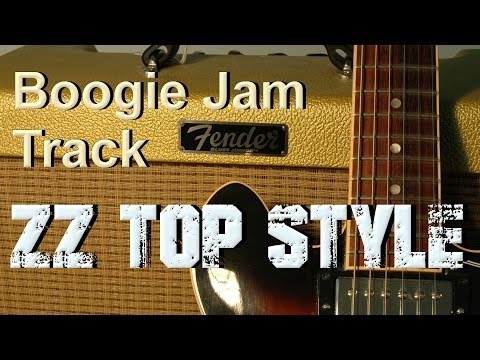Boogie backing track - zz top style