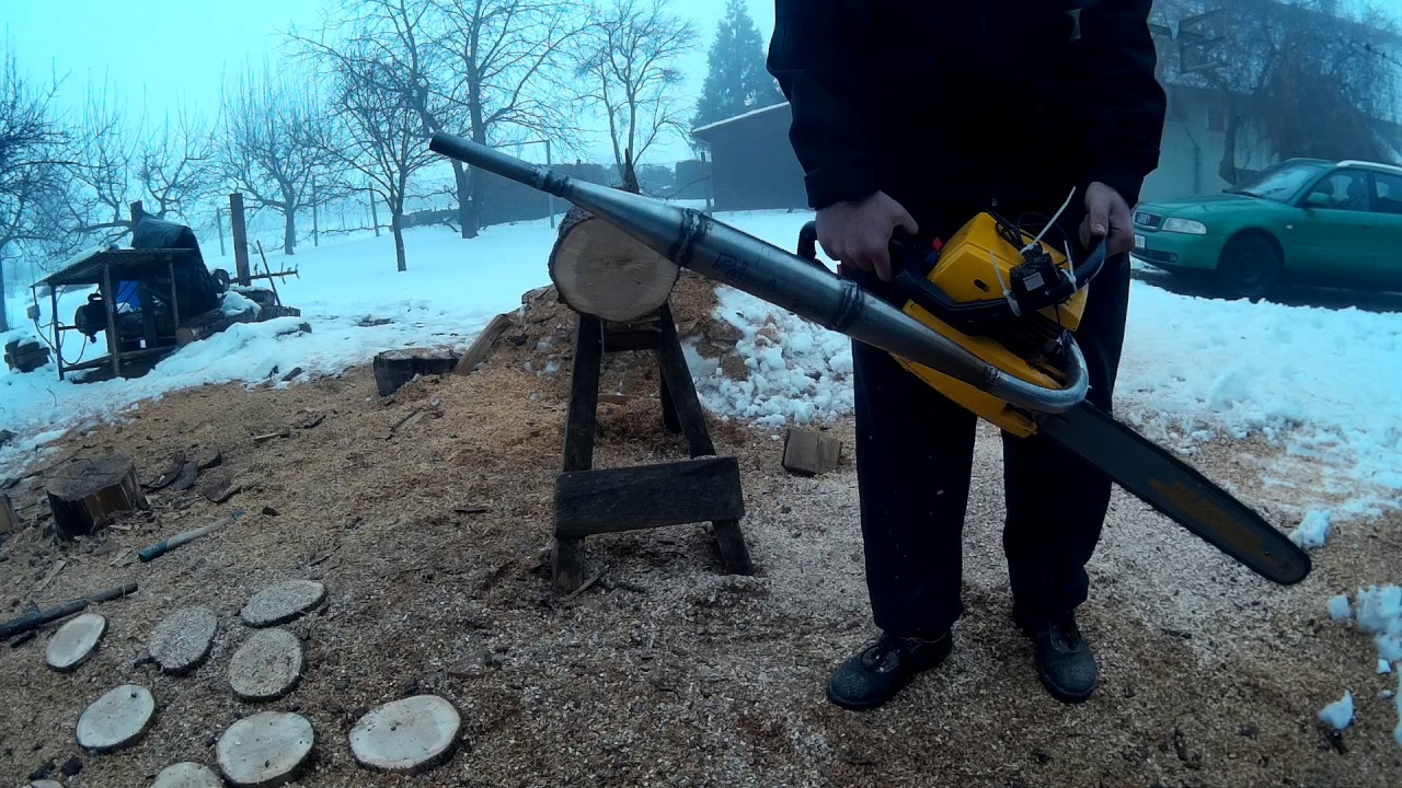 Partner r420 ported piped chainsaw youtube for Cheserex piscine