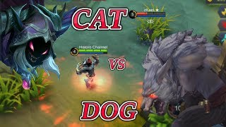 THE WOLF SNIFF THE CAT ROGER VS HELCURT