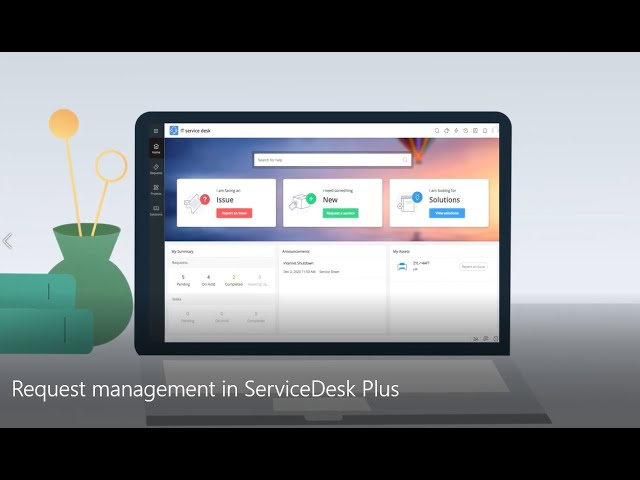Streamline IT service requests with ServiceDesk Plus